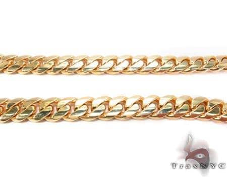 Miami Cuban Curb Link Chain 22 Inches 8mm 126.10 rams Gold