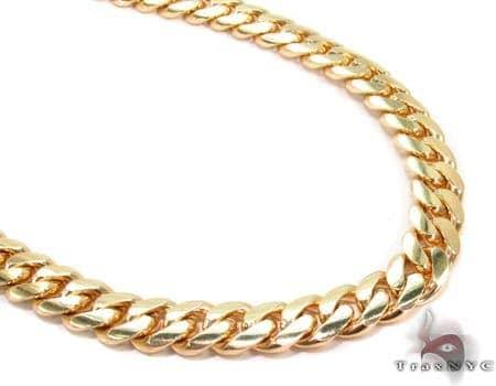 Miami Cuban Curb Link Chain 30 Inches 7mm 102.7 Grams 32406 Gold