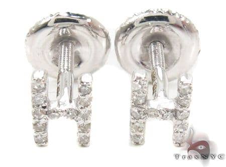 Prong Diamond Initial 'H' Earrings 32636 Stone