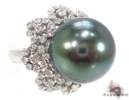 Black Pearl Diamond Ring 32668 Anniversary/Fashion