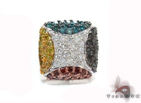 Multi-Color Prong Diamond Single Earring 32674 Stone