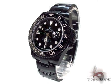 Rolex GMT Master II Black DLC/PVD 16710 Diamond Rolex Watch Collection