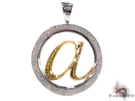 Prong Diamond Silver a Custom Pendant Metal