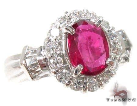 Light Pink Ruby & Diamond Ring 32964 Anniversary/Fashion