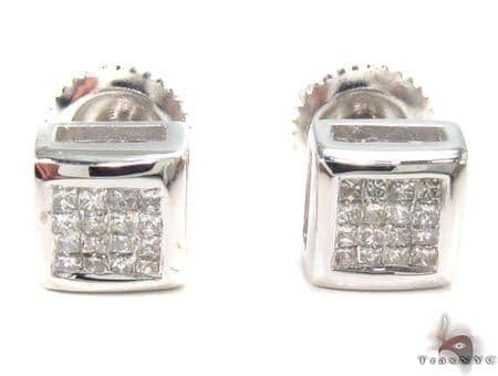 Invisible Diamond Earrings 32974 Stone