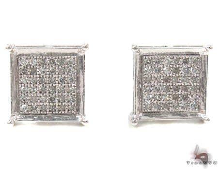 Micro-Pave Diamond Earrings 32975 Stone