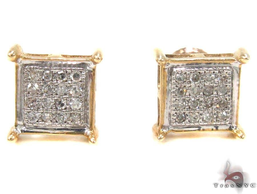 Micro-Pave Diamond Earrings  32977 Stone
