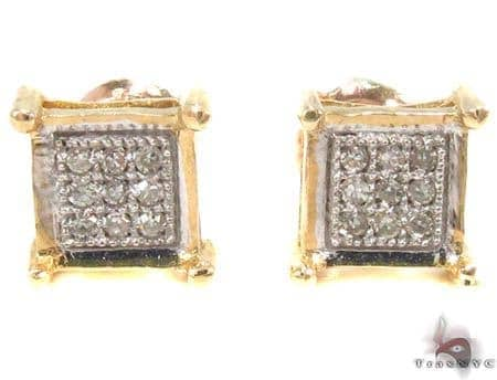 Micro-Pave Diamond Earrings Stone