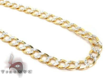 10k Gold Diamond Cut Cuban Link Chain 24 Inches 3.5mm 6.14 Grams Gold