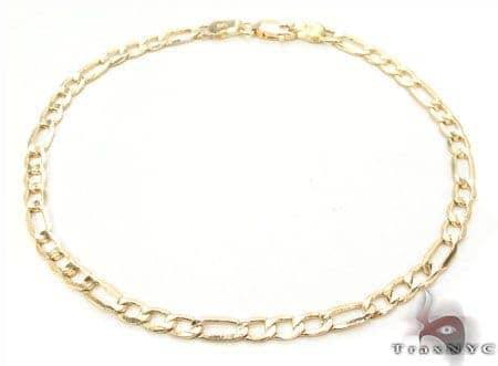10K Figaro Bracelet 33024 Gold