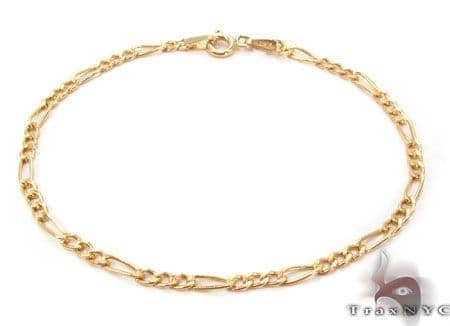 10K Figaro Bracelet 33026 Gold