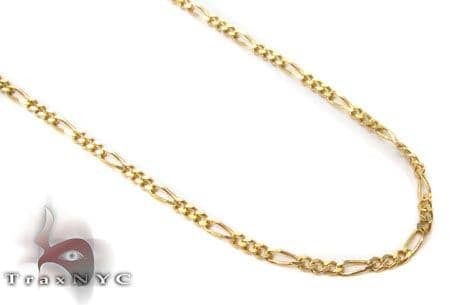 10K Yellow Gold Figaro Link Necklace 24 Inches 1mm 1.96 Grams Gold