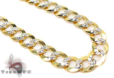 Solid Cuban Diamond Cut Chain 22 Inches 7mm 23.7 Grams Gold
