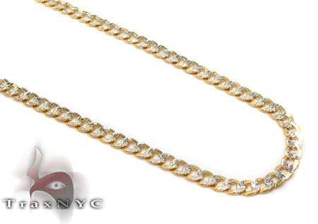 Solid Cuban Diamond Cut Chain 18 Inches 2mm 2.9 Grams Gold