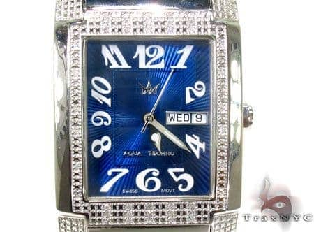 Aqua Techno Diamond & Stainless Steel Watch Aqua Techno