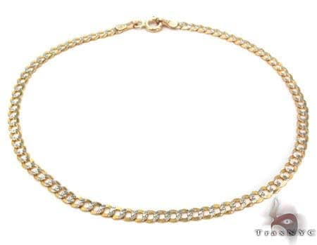 Solid Cuban Diamond Cut Bracelet 8.5 Inches 3mm 2.24 Grams Gold