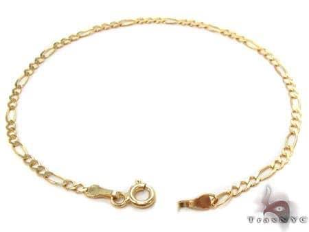 10K Gold Anchor Diamond Cut Bracelet 33203 Gold
