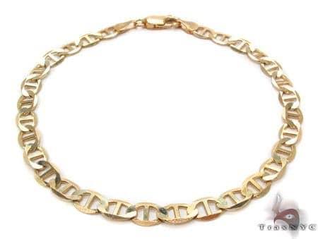 10K Gold Anchor Bracelet 33211 Gold