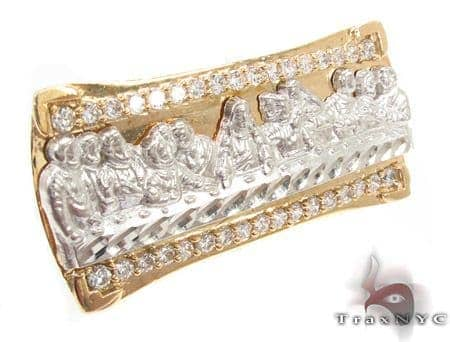 CZ 10K Gold Last Supper Ring 33233 Metal