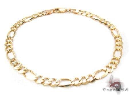 10K Gold Figaro Bracelet 33240 Gold