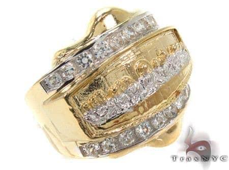 CZ 10K Gold Last Supper Ring 33256 Metal
