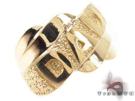 10K Yellow Gold Dad Ring 33301 Metal