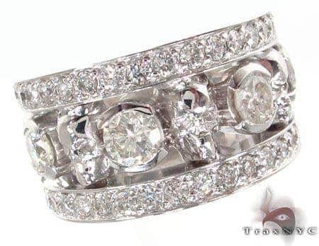 Custom Diamond Skull Ring 33346 Stone