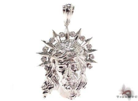 Diamond Jesus Pendant 33422 Style