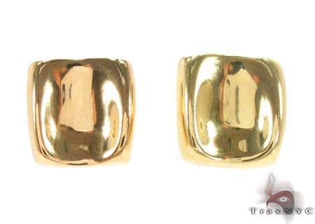 18K Yellow Gold Earrings 33431 Metal