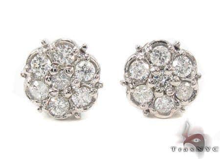 Prong Diamond Earrings 33436 Stone