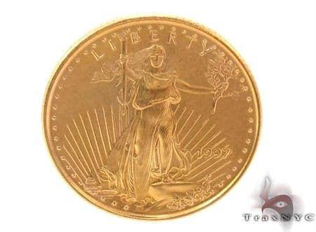 $5 Dollar 1/10 OZ Fine Gold American Eagle Coin 33450 Metal
