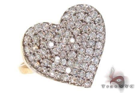 CZ 10k Gold Heart Ring 33494 Anniversary/Fashion