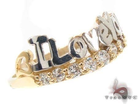 CZ 10k Gold I Love You Ring 33530 Anniversary/Fashion