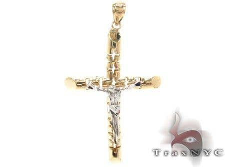 CZ 10K Gold Cross Crucifix 33638 Gold