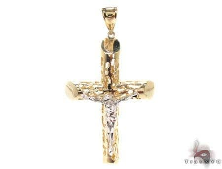 CZ 10K Gold Cross Crucifix 33643 Gold