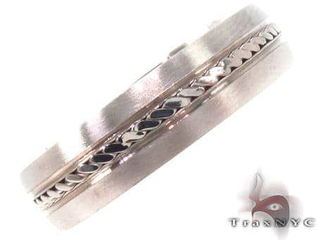 14K White Gold Wedding Band 33685 Style