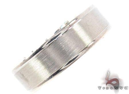 14K White Gold Wedding Band 33687 Style