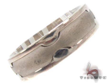 14K White Gold Wedding Band 33693 Style