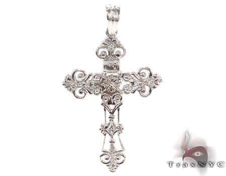 Bezel Diamond Cross Crucifix 33837 Diamond