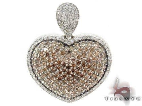 Prong Diamond Heart Cross Crucifix 34023 Style