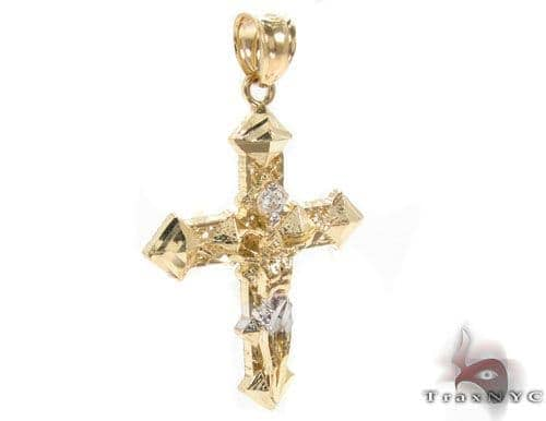 CZ 10K Gold Cross Crucifix 34141 Gold