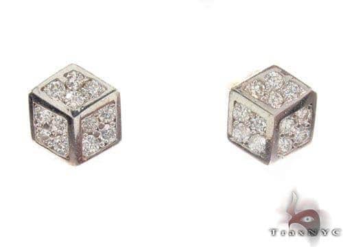 CZ 10K Gold Earrings 34173 Metal
