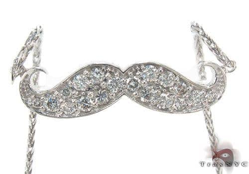 Prong Diamond Mustache Necklace 34190 Diamond