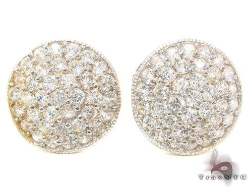 CZ 10K Gold Earrings 34218 Metal