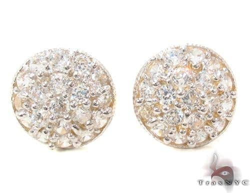 CZ 10K Gold Earrings 34219 Metal