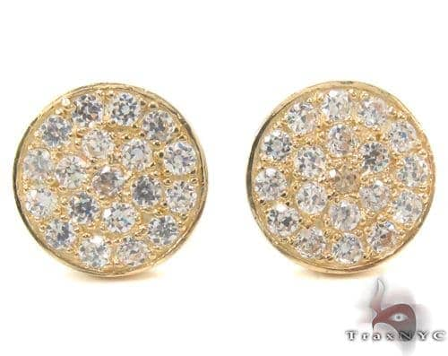 CZ 10K Gold Earrings 34221 Metal
