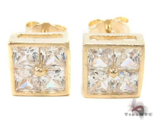 CZ 10K Gold Earrings 33238 Metal