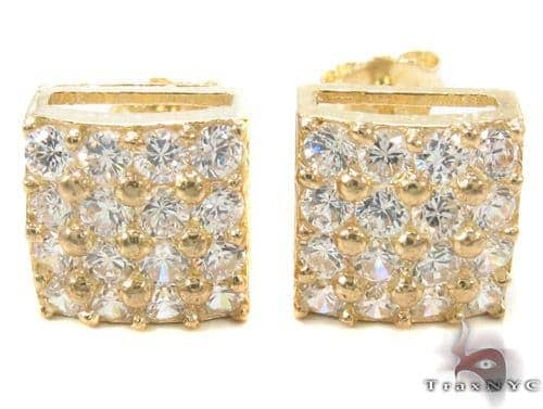 CZ 10K Gold Earrings 33243 Metal