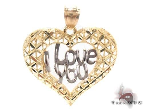 10k Two Tone Gold Charm 34276 Metal