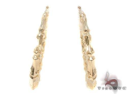 10K Gold Hoop Earrings 34297 Metal